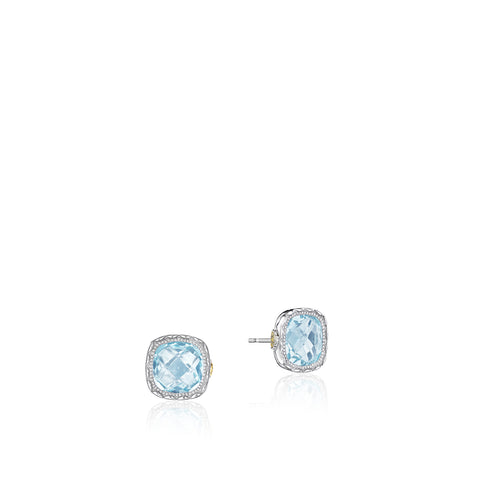 ede6a155e15266 Tacori Cushion Gem Earrings featuring Sky Blue Topaz