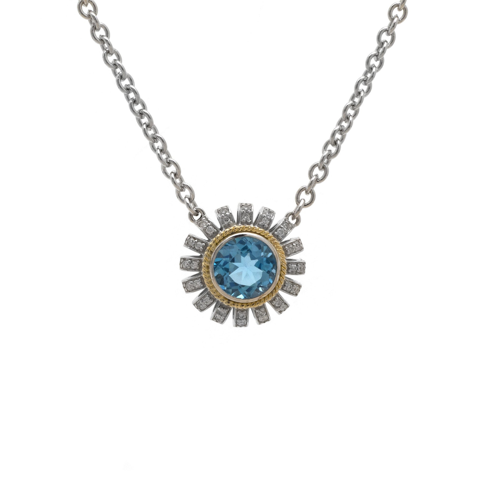 drop pendant white necklace product london topaz with wt blue