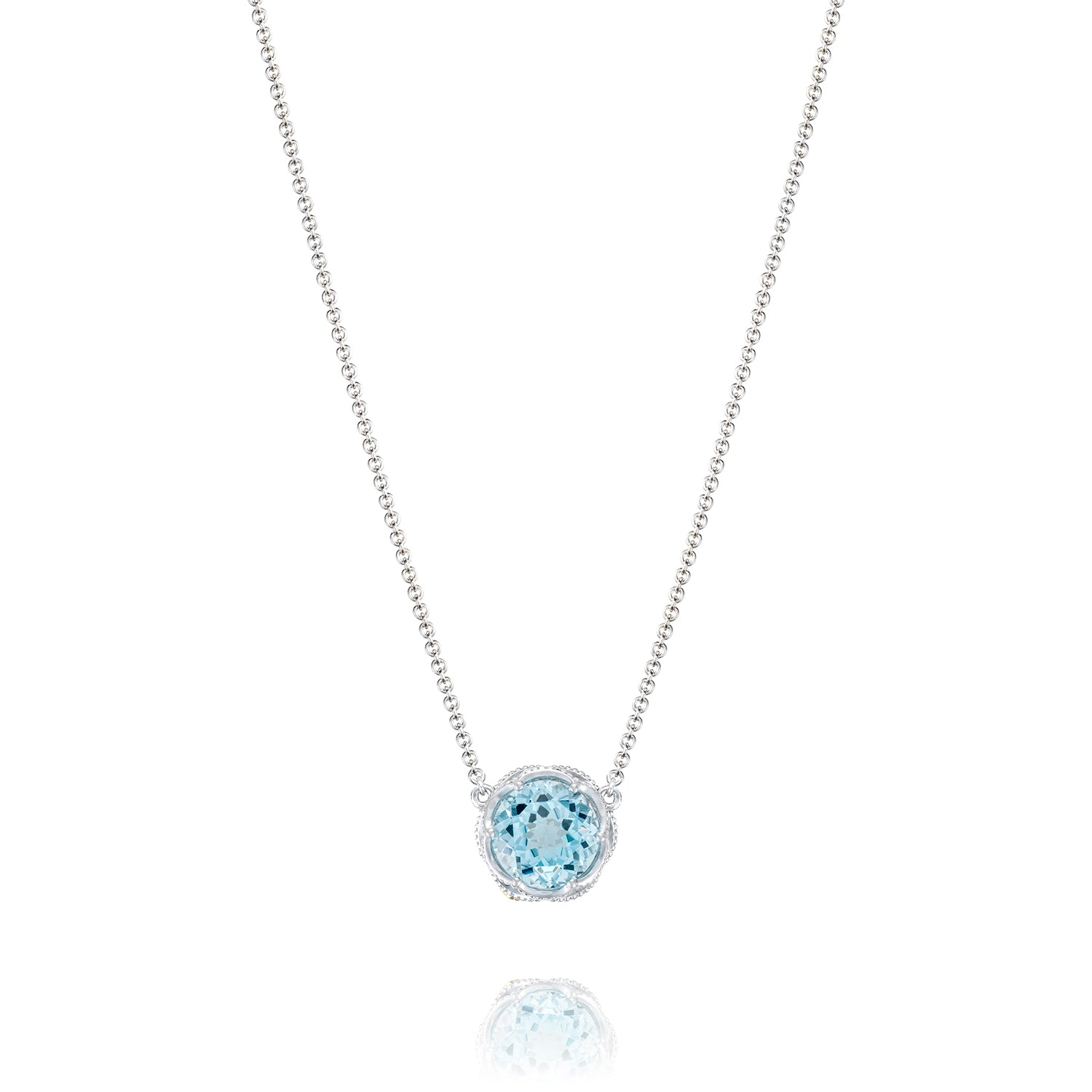 7dc8d850275b73 Tacori Bold Crescent Station Necklace featuring Sky Blue Topaz. Zoom