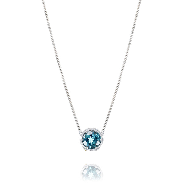 9034309d978e80 Barmakian | Tacori Bold Crescent Station Necklace featuring London Blue  Topaz. | Barmakian Jewelers