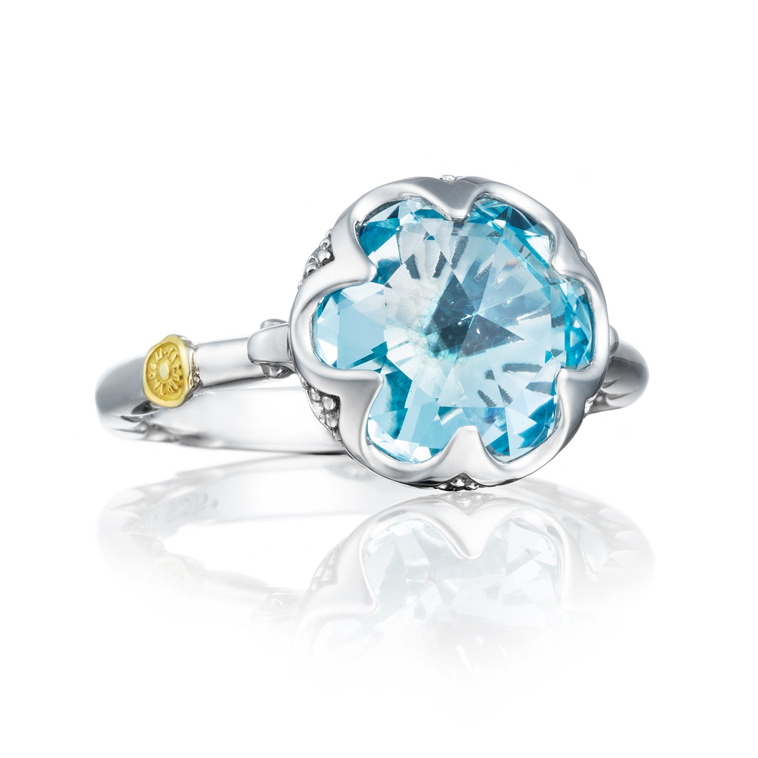 white rings gold in topaz diamonds with ring blue