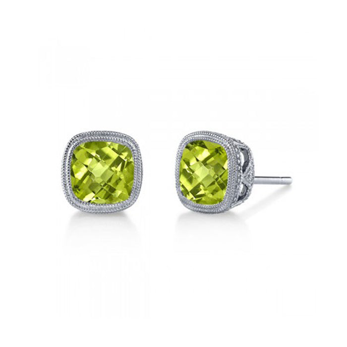 new moon earrings stud peridot products