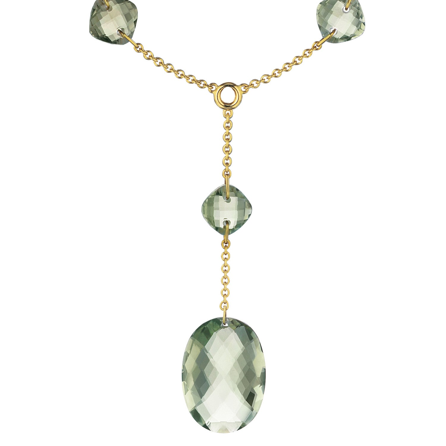 green pendant briolette gold ctw amethyst necklace in rose cut pointed
