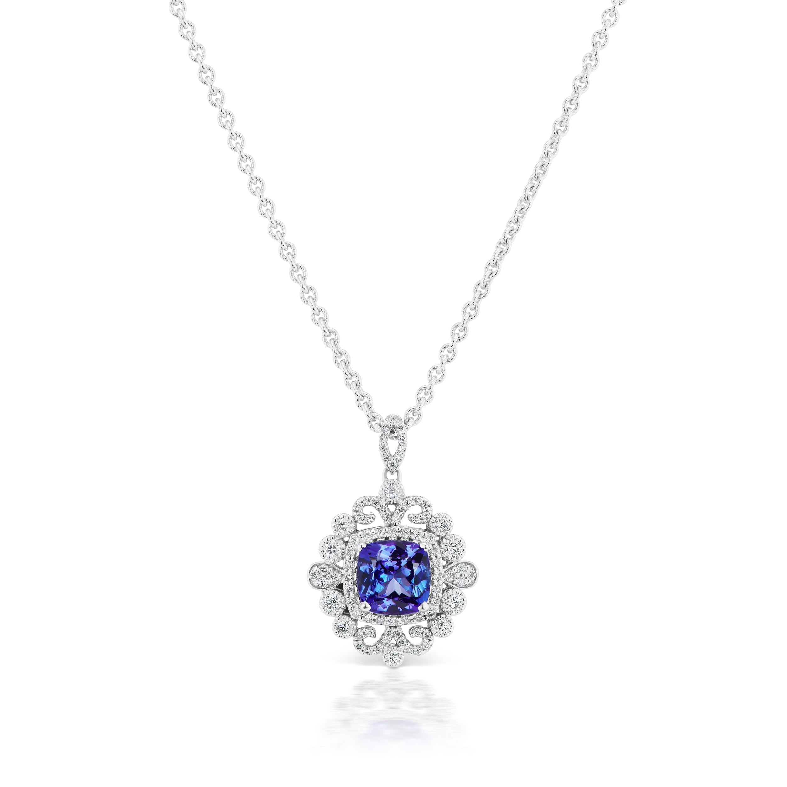 lot details tiffany by neckla lotfinder tanzanite and a necklace co nyr jewelry diamond