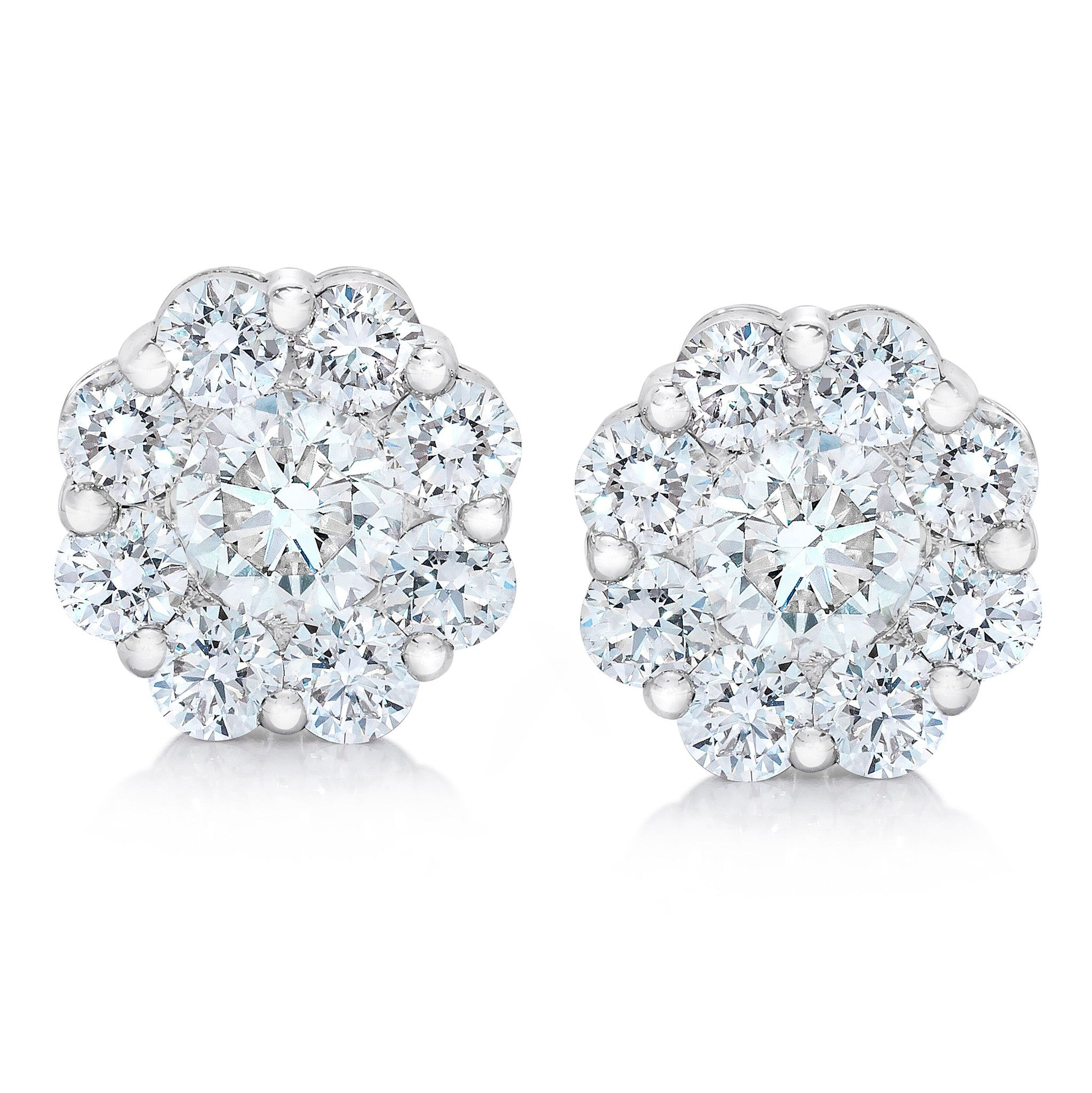 earrings index cluster i diamond naples