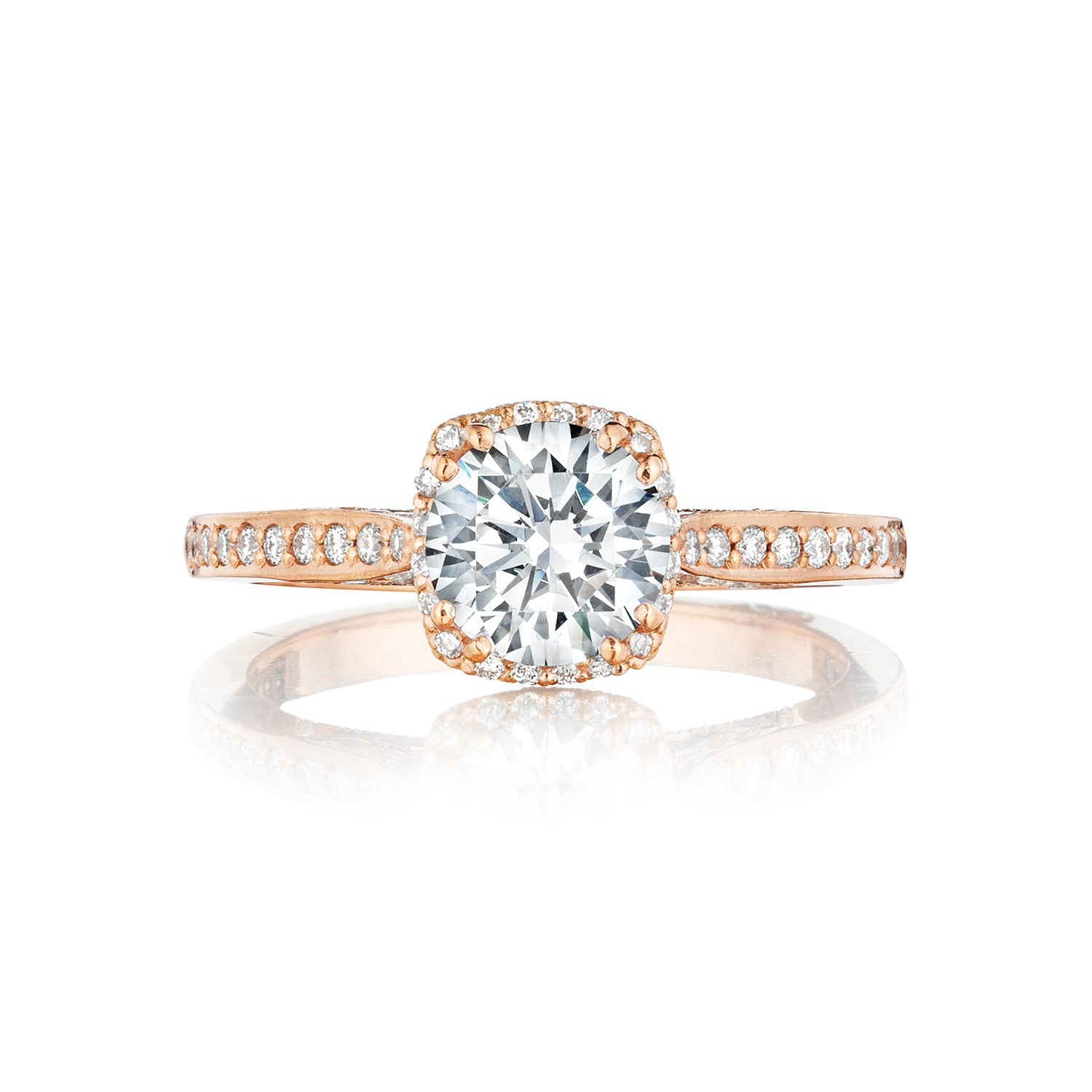 in ring jewellery product cluster rings pink white rose gold set engagement diamond