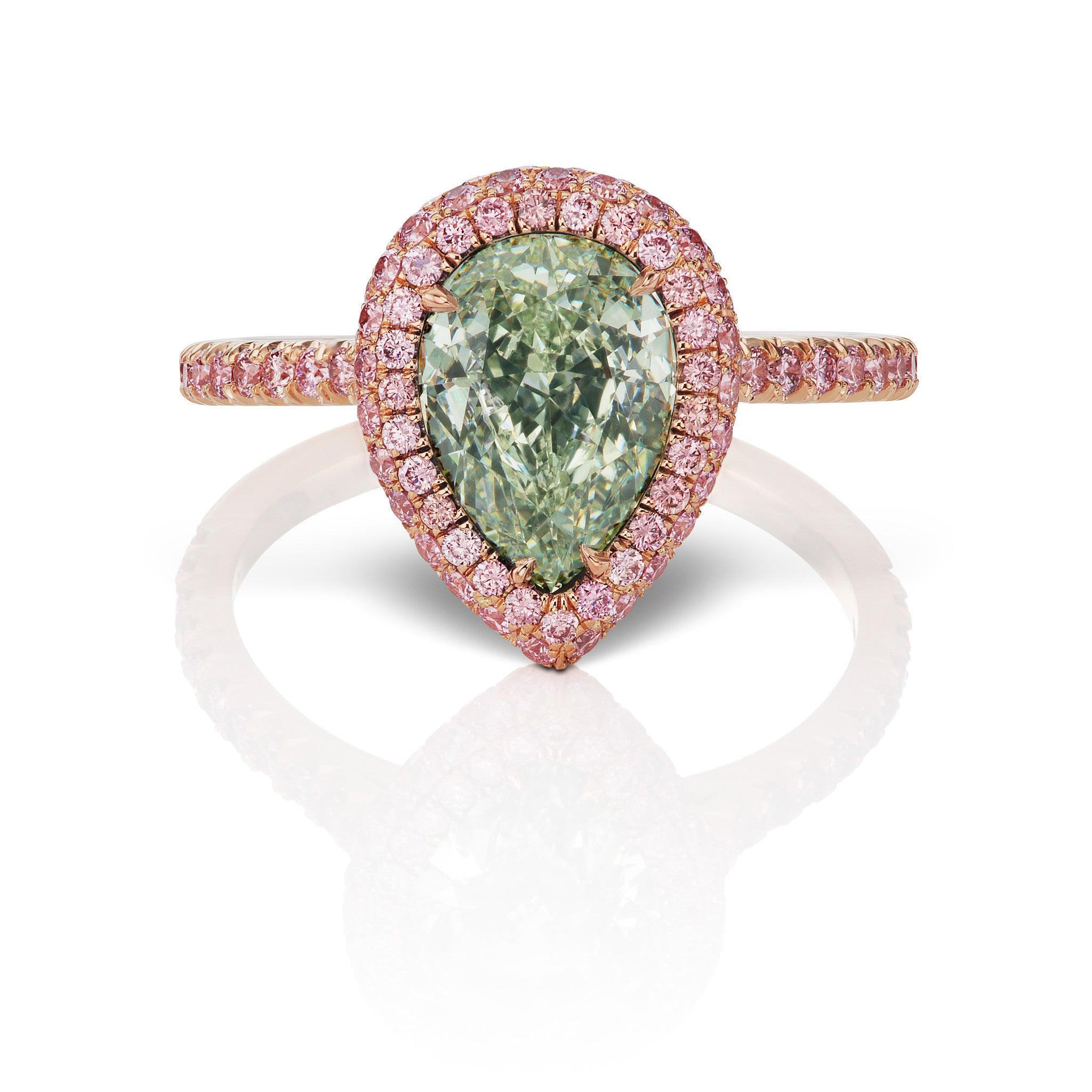 argyle pink diamonds pink diamond wedding rings Natural Argyle Green Diamond Ring