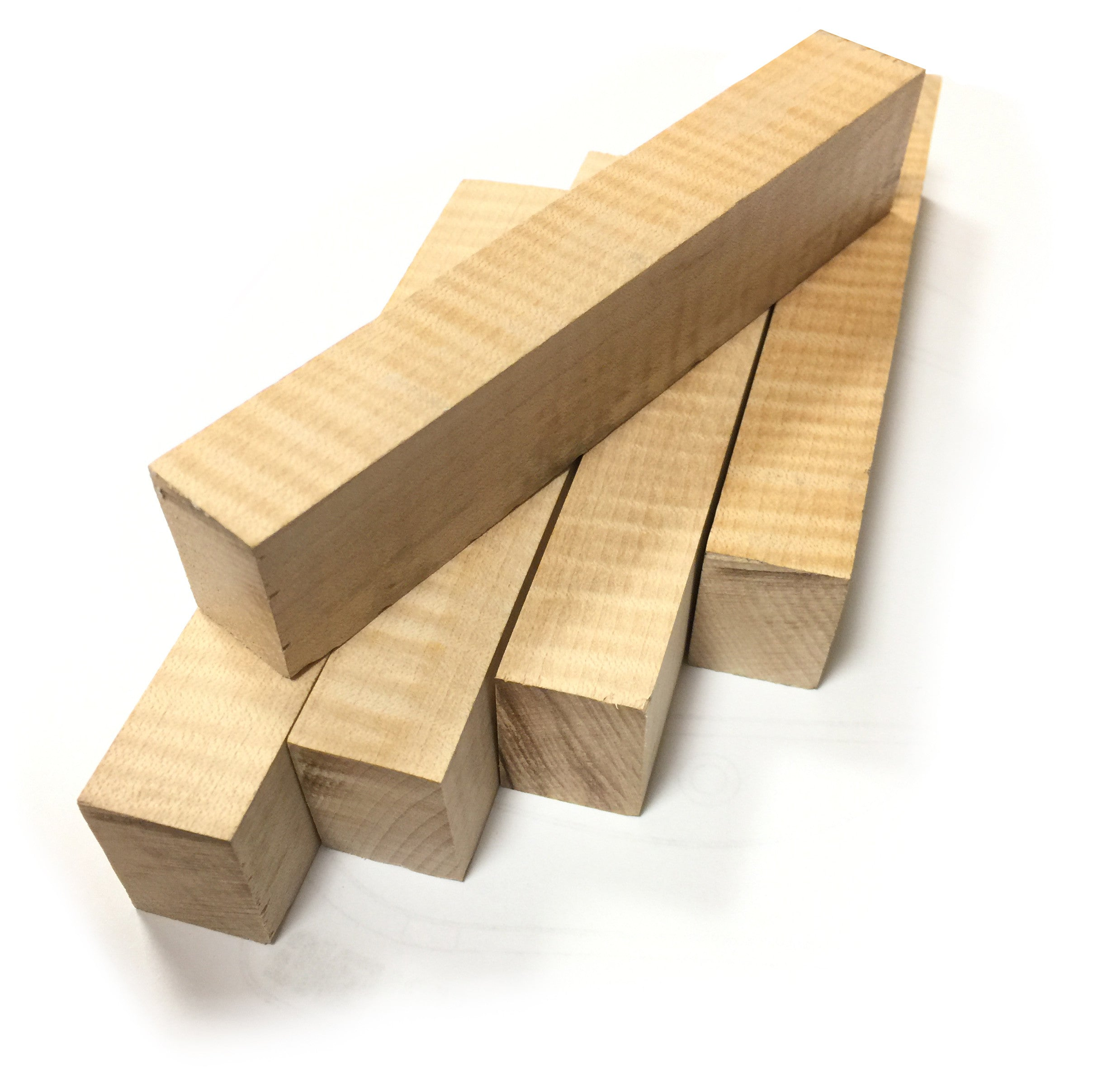 Curly Maple Pen Blanks - 5 Pack - Cousineau Wood Products, CWP-USA.com, DymaLux,  Spectraply, Turning blanks, Pepper Mill, Diamond Wood, Webb Wood, laminated wood