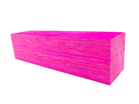SpectraPly Blank: Hot Pink - Cousineau Wood Products, CWP-USA.com, DymaLux,  Spectraply, Turning blanks, Pepper Mill, Diamond Wood, Webb Wood, laminated wood
