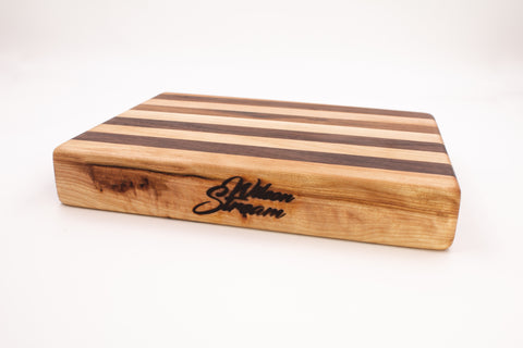 Wilson Stream Cutting Board - Walnut/Birch Mix - Cousineau Wood Products, CWP-USA.com, DymaLux,  Spectraply, Turning blanks, Pepper Mill, Diamond Wood, Webb Wood, laminated wood