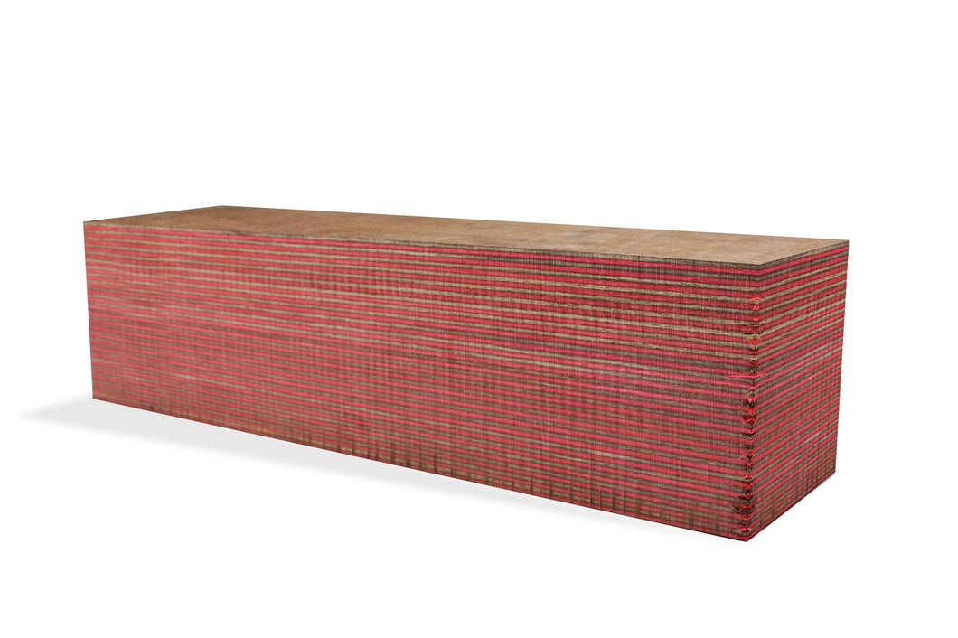 SpectraPly Blank: Red Rider - Cousineau Wood Products, CWP-USA.com, DymaLux,  Spectraply, Turning blanks, Pepper Mill, Diamond Wood, Webb Wood, laminated wood