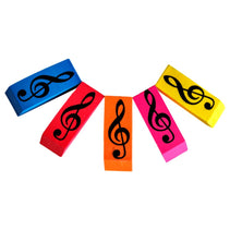 Rubber - Various Colours - Treble Clef Design