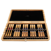 Natural Wood Oboe Reed Case (20 reeds with springs)