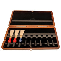 Wooden Mahogany Bassoon Reed Case (9 reeds with pegs)
