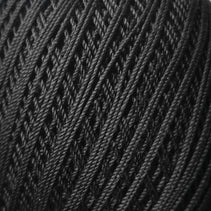 Bassoon Reed Thread Wrapping (260m, cotton) - Black - Crook and Staple