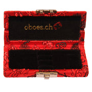 CH Chinese Silk Oboe Reed Case (3 Reeds) - Crook and Staple