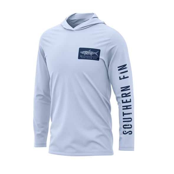 Performance Fishing Hoodie Shirt (Blue)