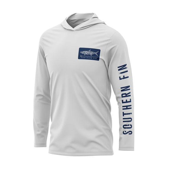 Performance Fishing Hoodie Shirt (White)