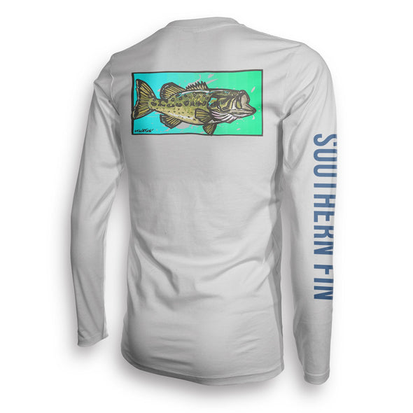 Performance Fishing Shirt Long Sleeve (Largemouth Bass)