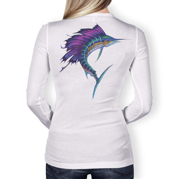 Women's Performance Fishing Shirt Long Sleeve (Sailfish)