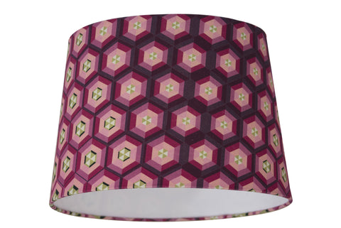 Honeycomb Lampshade - Digitally Printed, 100% Cotton - © 2015 Claire ∆lderdice Textiles