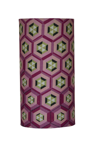 Honeycomb Tube Light - Digitally Printed, 100% Cotton - © 2015 Claire ∆lderdice Textiles