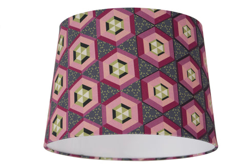 Morph Lampshade - Digitally Printed, 100% Cotton - © 2015 Claire ∆lderdice Textiles