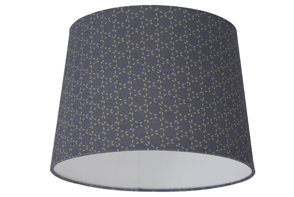 Tessellation Grey Lampshade - Digitally Printed, 100% Cotton - © 2015 Claire ∆lderdice Textiles