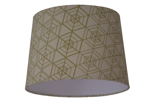 Tessellation Morph Lampshade - Digitally Printed, 100% Cotton - © 2015 Claire ∆lderdice Textiles