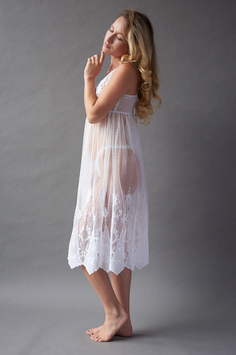 Angelic Tea Length Dress