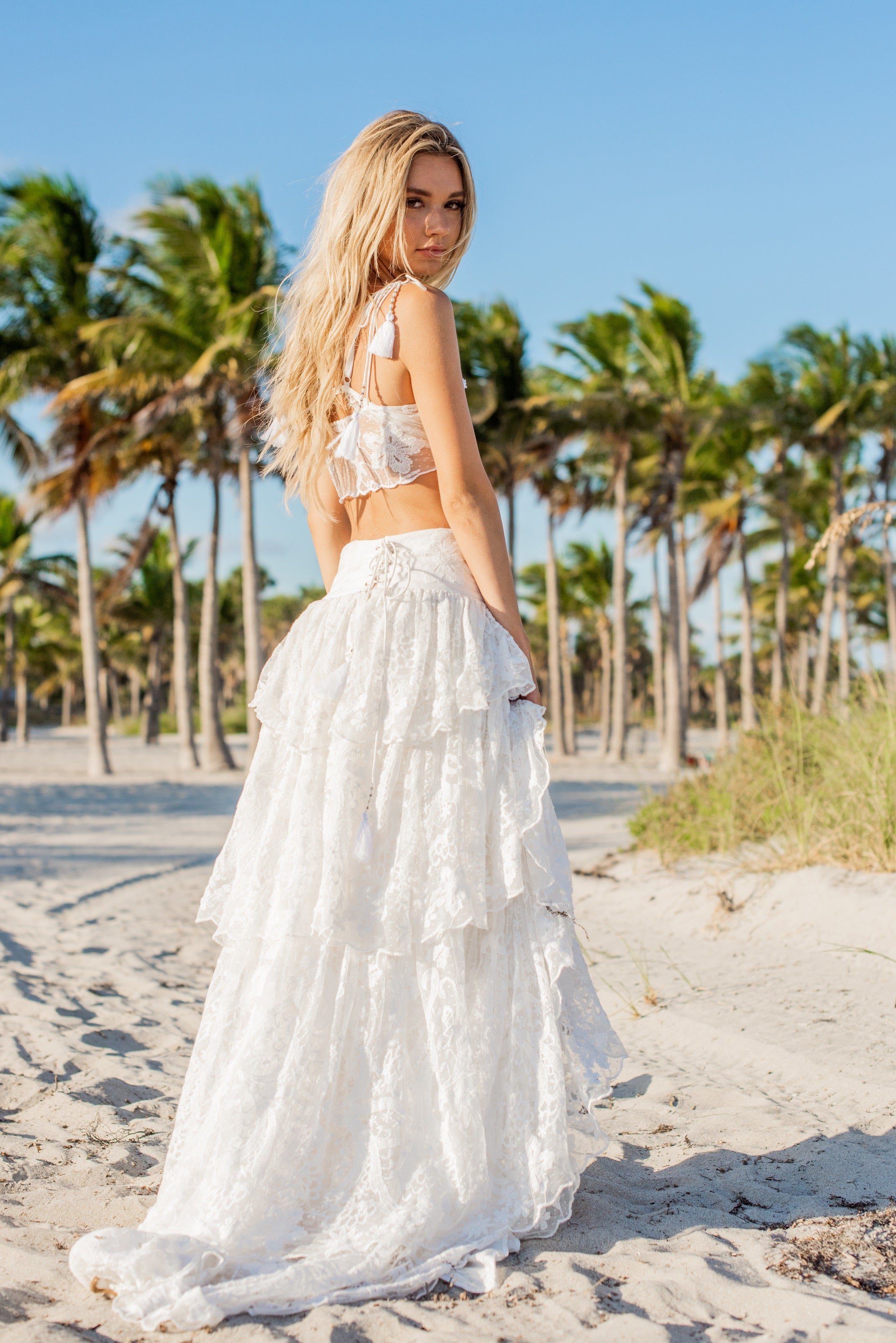 """Ibiza"" Ruffled Skirt"