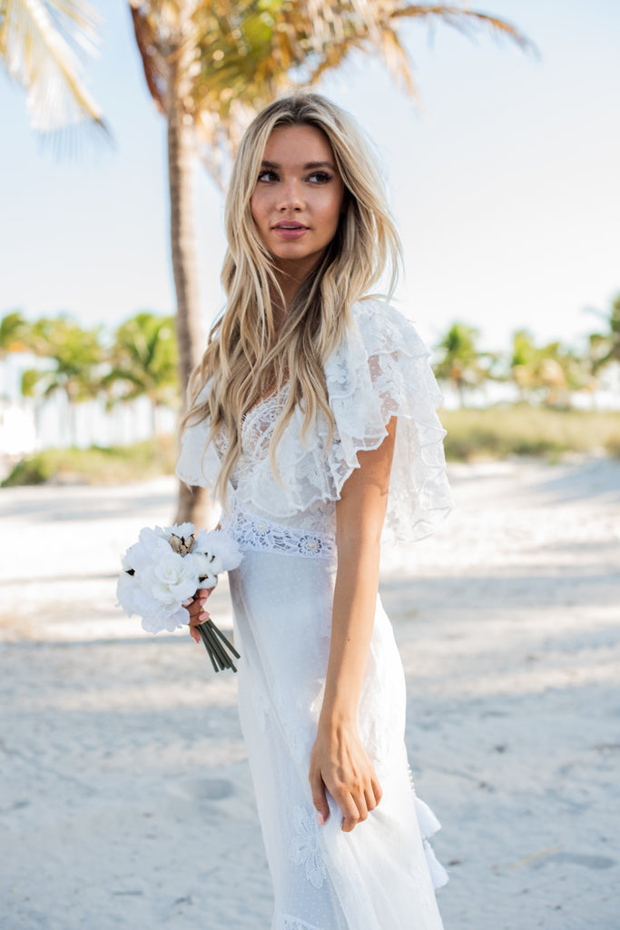 """Ibiza"" Ruffled Gown"