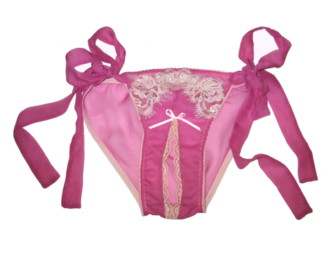"""French Maid"" Ouvert Bow Bikini"