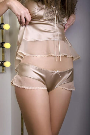 Gold Champagne Tap Pants - Frances Smily