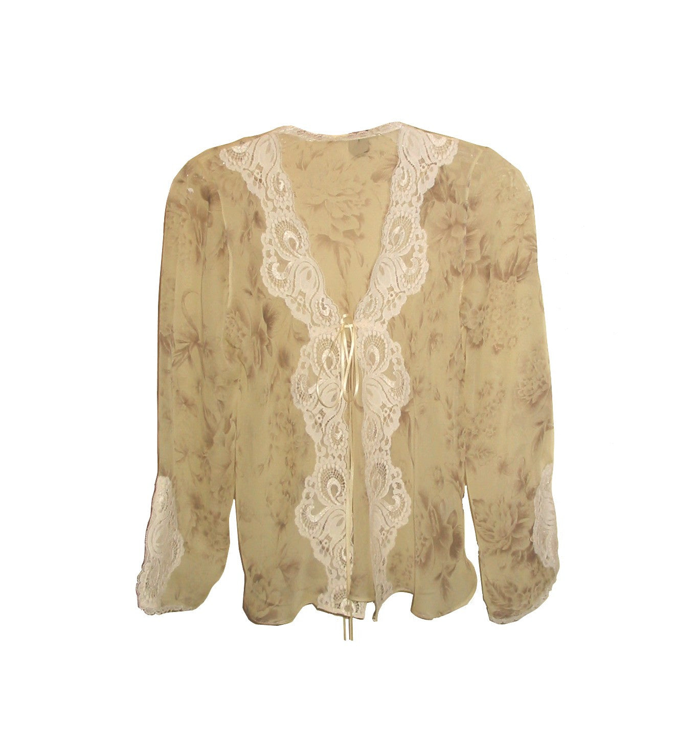Paris Print Chiffon & Lace Cardigan - Nomad by Frances Smily  - 2