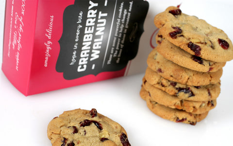 Cranberry Walnut Cookies Gift Box