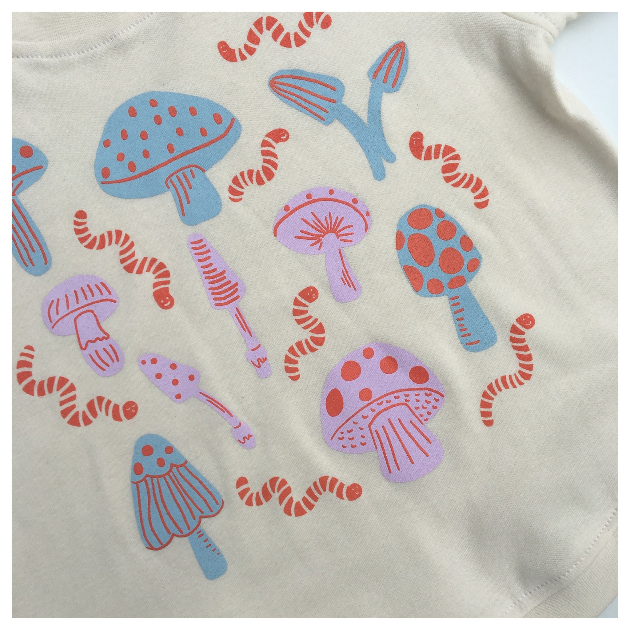 T-shirt Champignon en coton bio / Organic cotton mushroom T-shirt