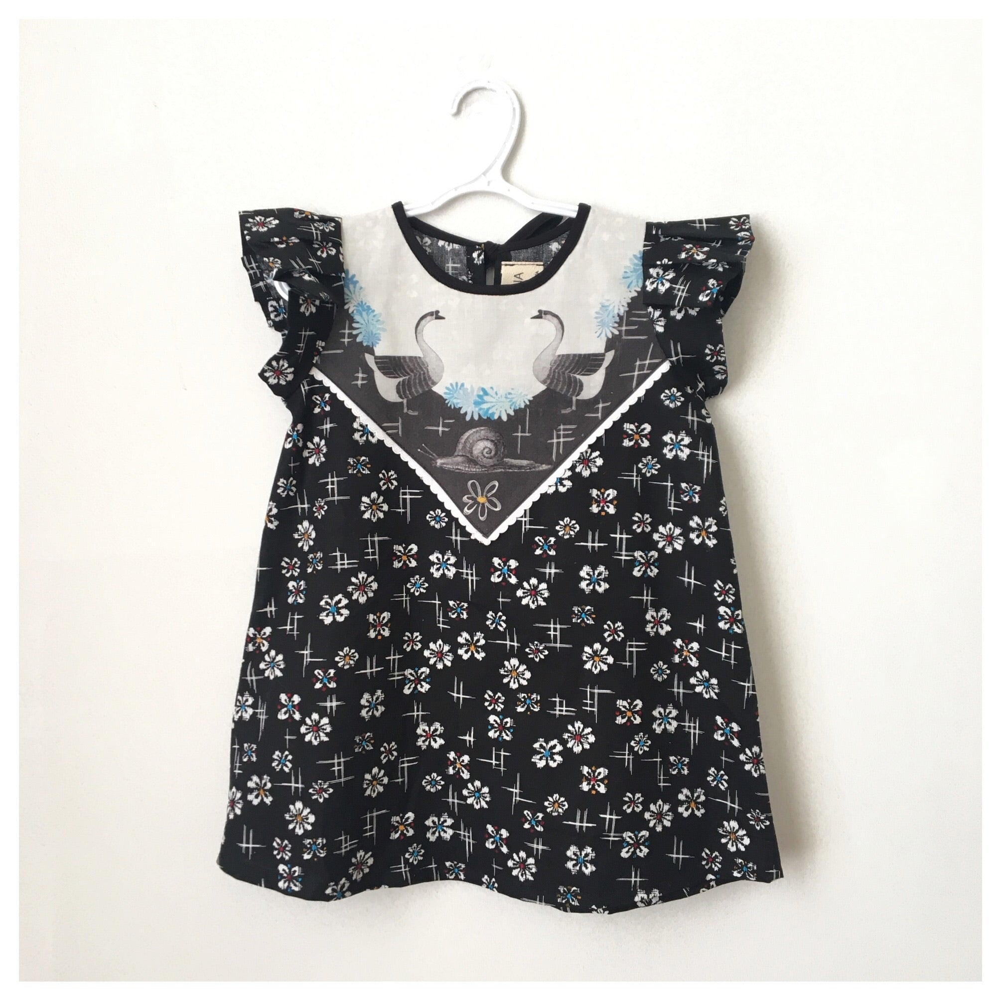 Robe tunique Oies et Escargot // Geese & Snail tunic dress