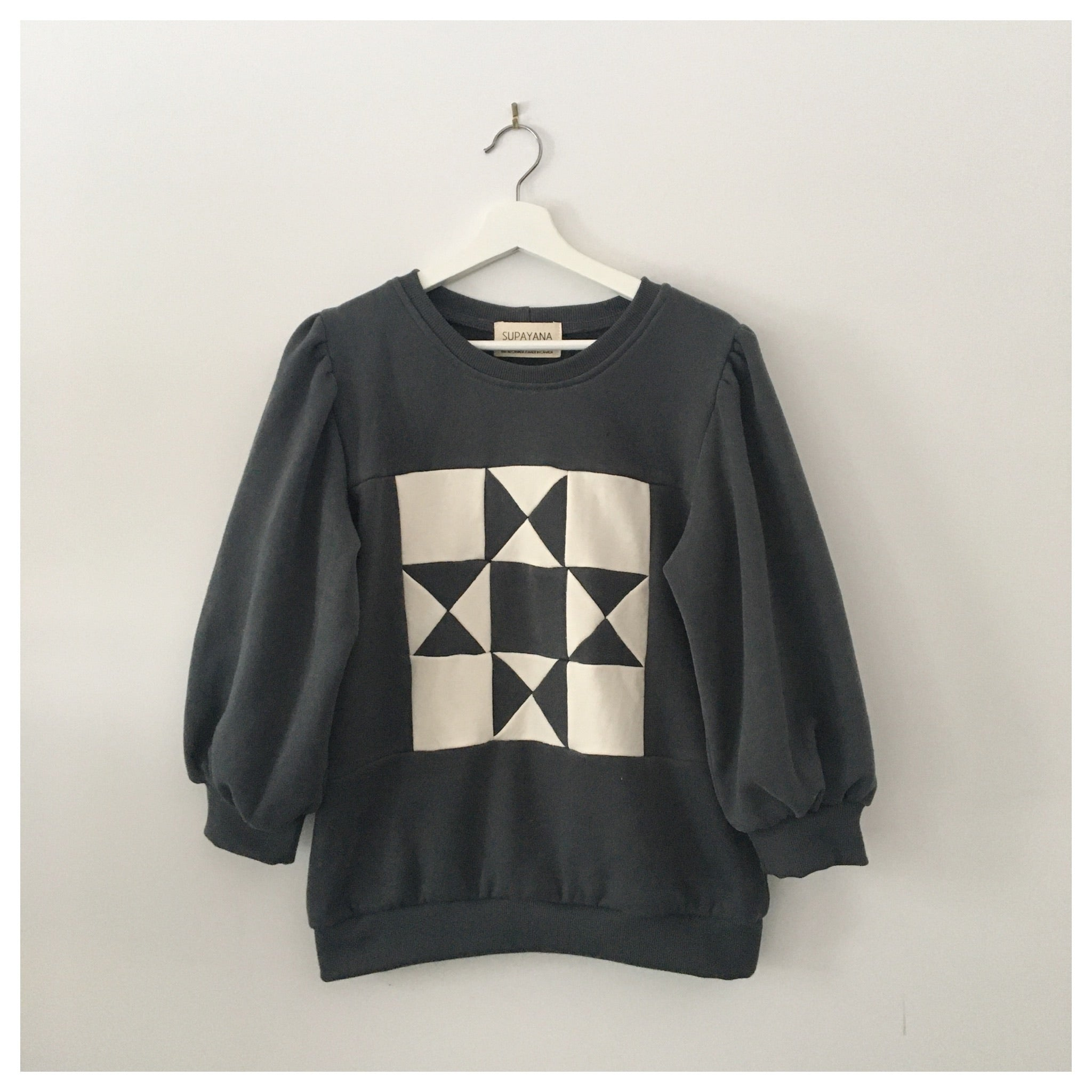 Charcoal Grey - QUILT sweatshirt - Made to Order