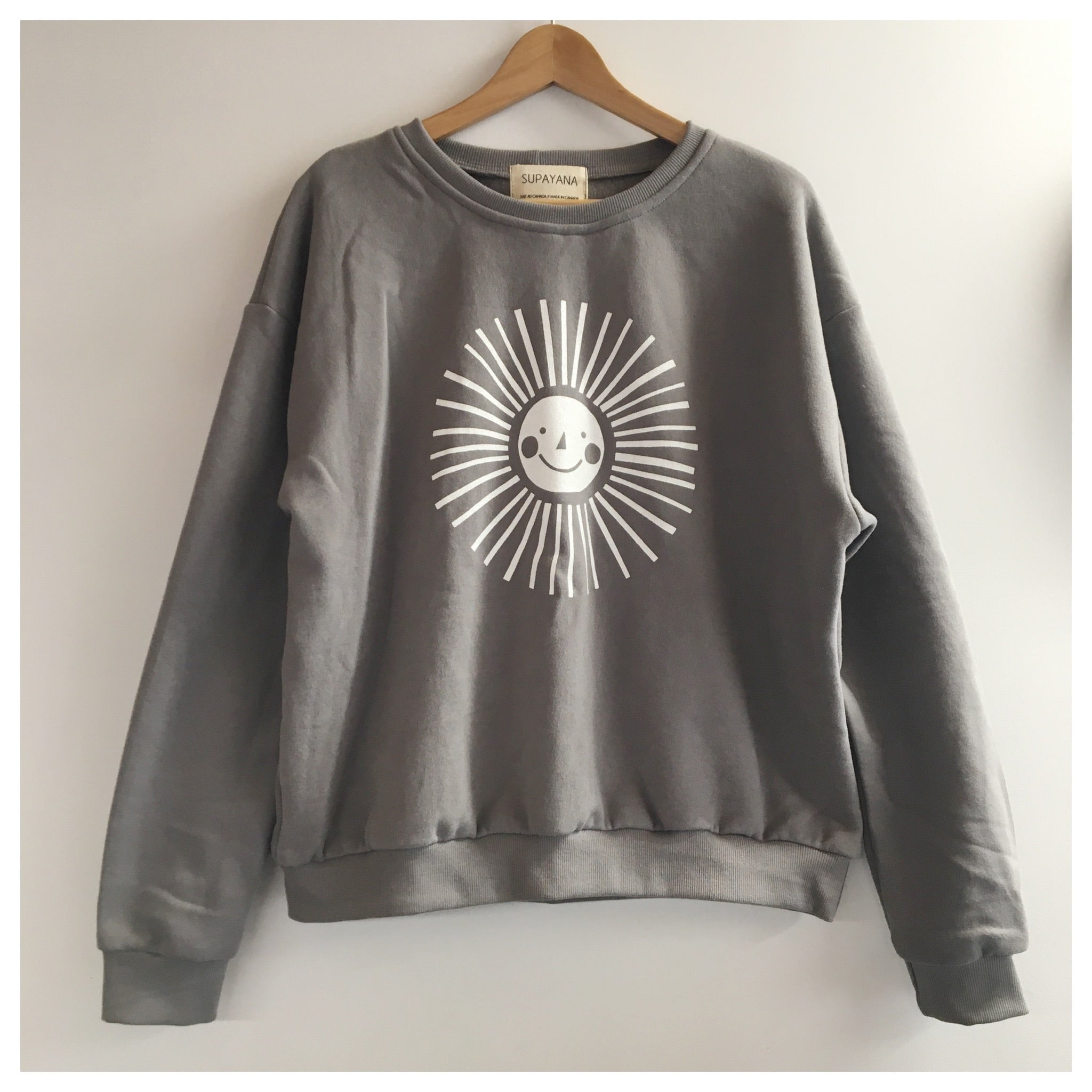 Adult sun sweatshirt - coton ouaté adulte ☀️ DOVE GREY