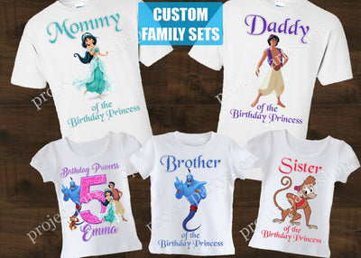 Aladdin Family Birthday Shirts
