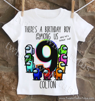 Among Us Birthday Shirt