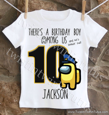 Custom Among Us Birthday Shirt