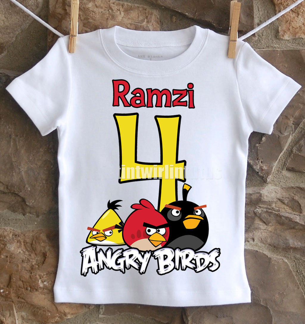 Angry Birds Birthday Shirt