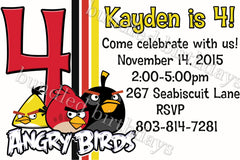 Angry Birds Birthday Invitation