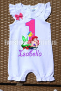 Little Mermaid Birthday Romper