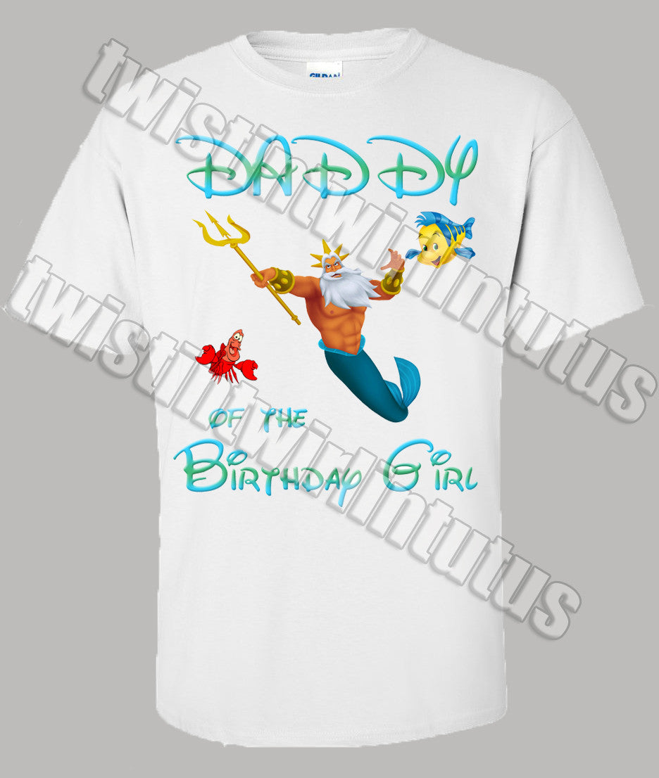 Little Mermaid Dad Shirt