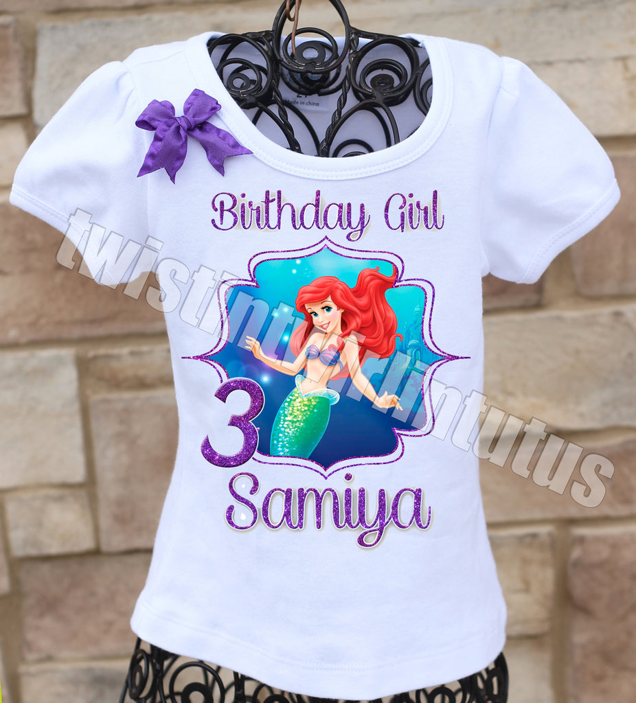 Little Mermaid Birthday Shirt Twistin Twirlin Tutus