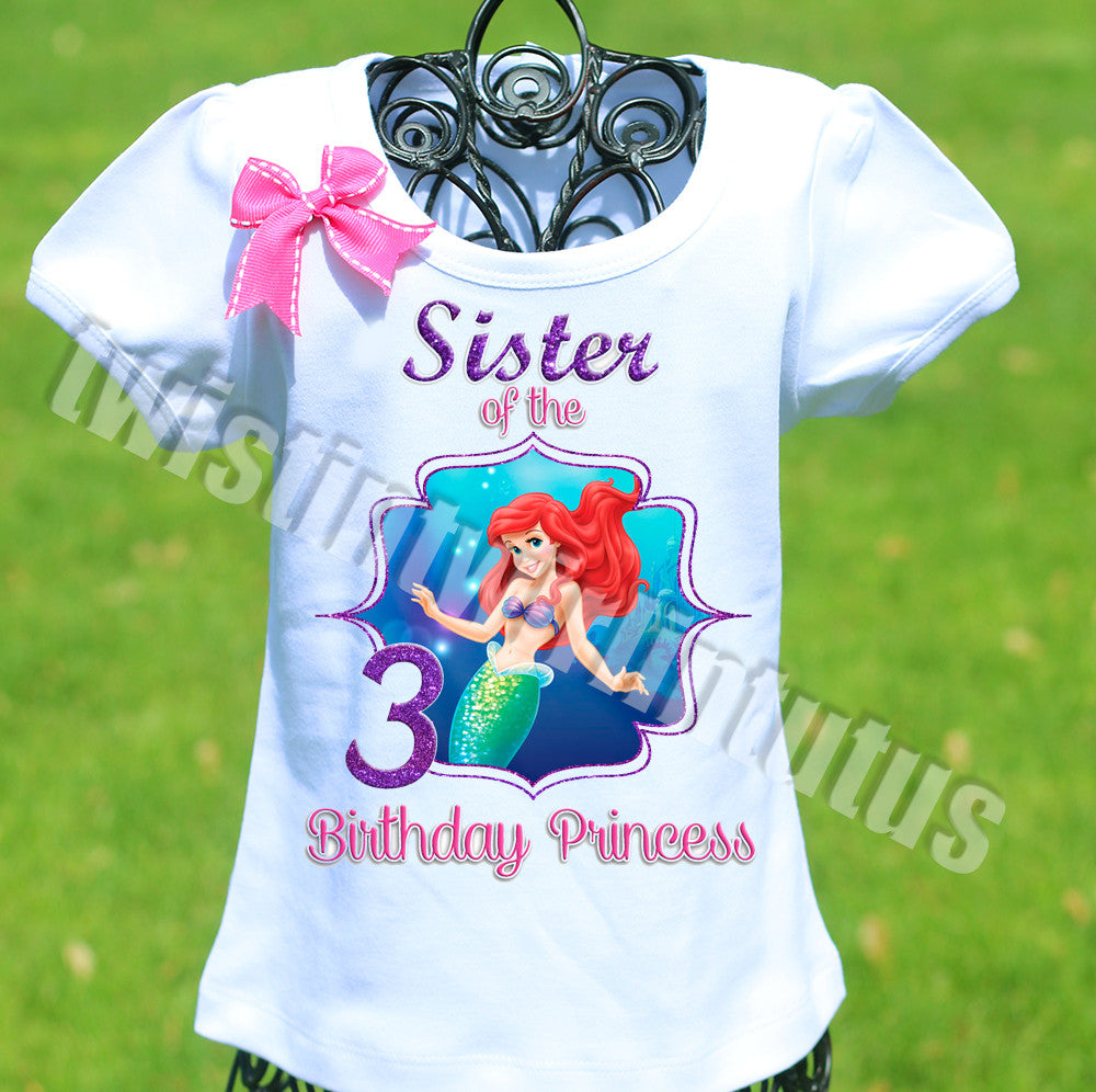 Little Mermaid Sister Birthday Shirt
