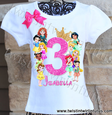 Baby Disney Princess Birthday Shirt